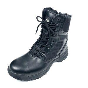 Wellco Mens Black Steel Toe Combat Boots Size 10W